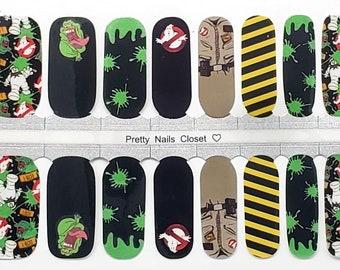 Ghostbusters Nail Wraps 100% Nail Polish Stickers Nail Strips