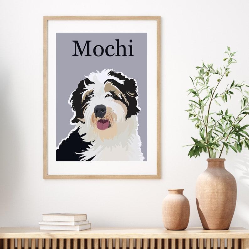 Custom Pet Gift Printed Unframed 8x10  Gift for Dog & Cat image 0