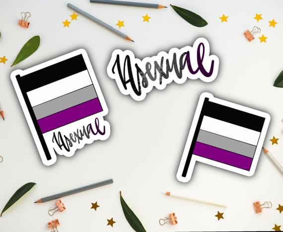 Sticker aufkleber flugel motorrad biker flagge fahne asexual