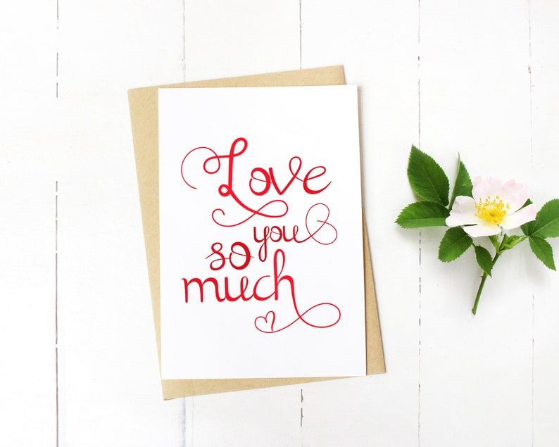 print at home card husband romantic card download Love You So Much PRINTABLE CARD love you card wife diy card printable anniversary card