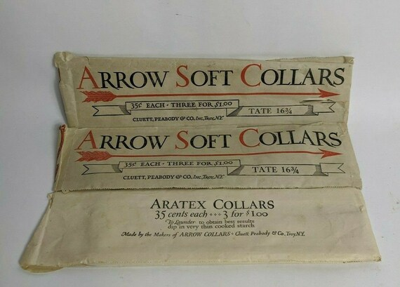 3 Men's ARROW/Aratex Soft Antique Shirt Collar TAT