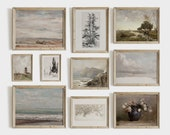Vintage Farmhouse Gallery Wall Print Set Neutral French Country Decor Paintings PRINTABLE 231