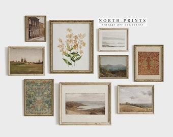 Printable Vintage Gallery Wall Art SET | Antique Prints Warm Aesthetic Decor DIGITAL | S9-3