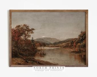 Autumn Landscape Oil Painting   Vintage Rustic Country Decor Digital Art PRINTABLE   831