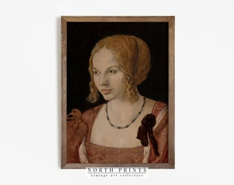 Victorian Portrait Painting   Vintage Dark Academia Decor   Woman Portrait PRINTABLE Digital   889