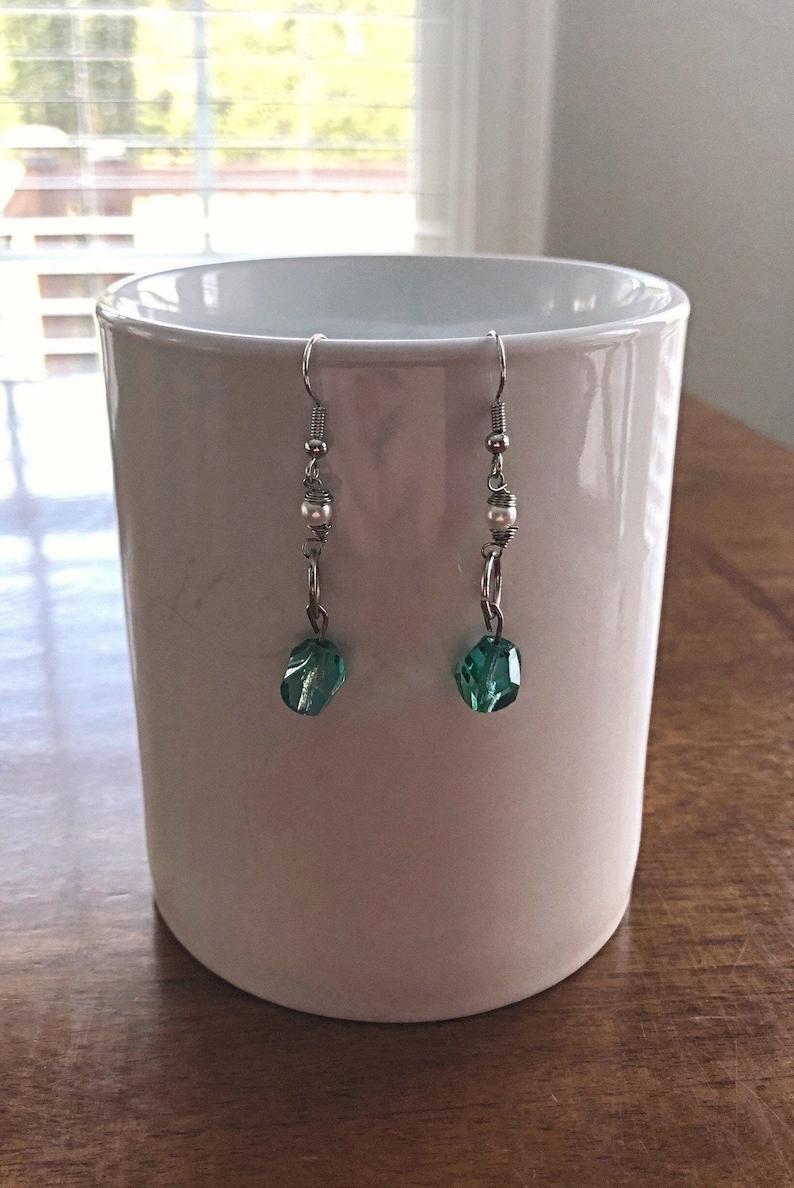 Nickel Free Emerald Earrings