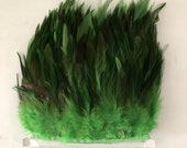 Wholesale 2Meters Lot Peacock Blue Dyed High Quality Pheasant chicken Feather Trims 8-13cm Height Natural Feathers Lace Ribbons