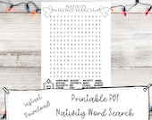 Sunday School Printable Nativity Word Search Activity Page