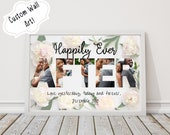 Happily Ever After - Custom Bible Verse Photo Collage Wall Art, Personalized Christian Printable Download, Photo Gifts, Word Art Plaque