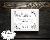 Inspirational Decor - Bless The Food Before Us - Thanksgiving Printable Wall Decor