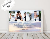 Faith - Custom Bible Verse Photo Collage Wall Art, Personalized Christian Printable Download, Photo Gifts, Word Art Plaque