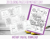 Mother's Day Printable Coloring Pages for the Christian Mother with Bible Verses