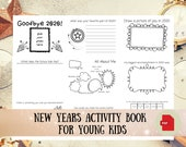 New Years Activity Printable Workbook for Kids