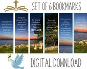 Bible Verse Printable Bookmarks - Gulf of Mexico - Set of 6 Inspirational Scripture Bookmarks, Ready To Print