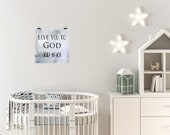 """Marble """"Love You To God and Back"""" Printable Wall Art - Nursery Decor for Baby"""