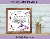 Scripture about Gardening - Christian Bible Verse Printable Wall Decor