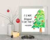 Christmas Better To Give Than To Receive Wall Art