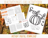 Fall Themed Christian Activity Printable Workbook for Kids