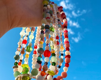 Mixed Matched Beaded Necklace