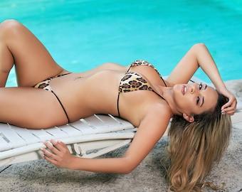 Leopard Print Bikini Set | Leopard Print Thong Bikini | High Quality Swimwear by MILA SWIMWEAR USA