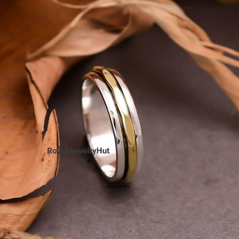 Women Ring Spinner Ring Sterling Silver Ring