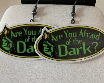Are you Afraid of the Dark Flatback Hook Earrings