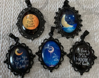 I Love you to the moon & back Necklaces (set 1)