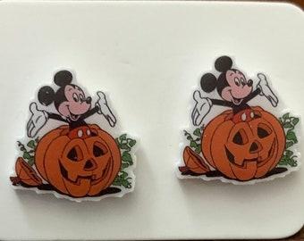 Halloween Mickey Stud Earrings