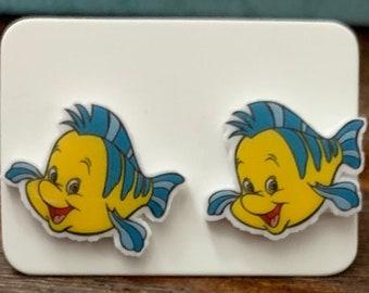 Flounder Stud Earrings