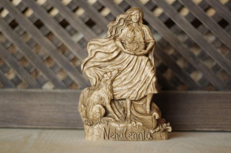 Nehalennia Celtic goddess Sea goddess Fertility statue image 0