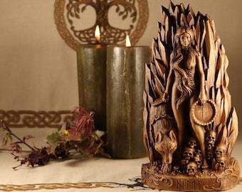 Hel statue, Goddess statue Wiccan altar kit