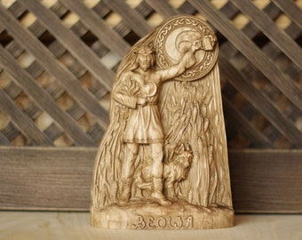 Norse pagan Pagan statue Heathen Asatru Greenman Norse gods, Beowa, Norse mythology Wooden statue Celtic Wood carving Anglo saxon Saxon god