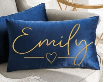 Personalised Velvet Couples Cushion/Pillow I Name Pillow, Couples Pillow, Valentines Gift, Gift for Her, Bedding, Personalised Pillow