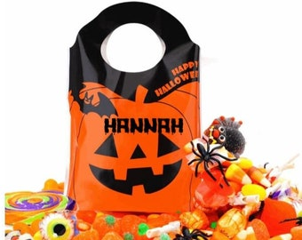 Personalised Halloween party bags for kids, sweet bags favours presents gifts surprise scary party