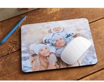 Personalised PHOTO Mouse Pad PC Computer Mat - Any Image, Text or Logo wedding anniversary birthday Christmas valentines working from home