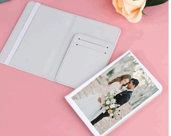 Personalised image Passport Wallet-Add your own image-Personalised Gift Travel Collage wedding anniversary adventure traveller present