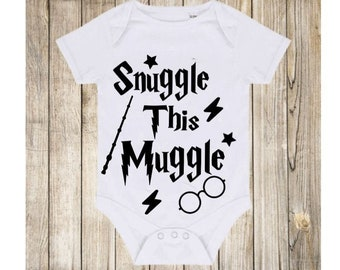 snuggle this muggle bodysuit baby vest Wizard Boy