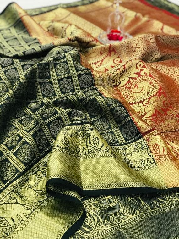 Indian Fast Sale Sare Traditional Hit design Weaving Silk Saree Banarasi Woven Silk Saree With Designer Pallu And Woven Silk Blouse
