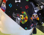 Day of the Dead dogs unisex scrub hat