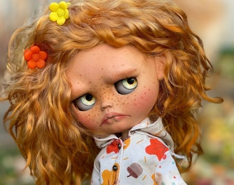 SOLD OUT Blythe doll natural red hair, blythe custom doll OOAK with free gift - Magic Toy!!!