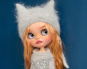 SOLD OUT Blythe custom doll natural rad hair  Blythe doll ooak Blythe, free gift - Magic bird!!!