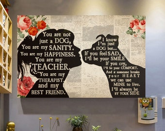 Pitbull I Am Your Friend Poster Print 24x36 Inches Wall Art Classic  Vintage