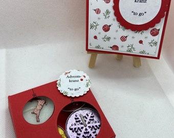 "Advent wreath ""to go"" with Christmas tea lights; gift box; gift box; Give joy;  Christmas; souvenirs; Advent"