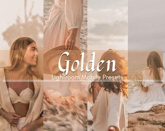 3 Golden Lightroom Mobile Presets   Golden Presets   Warm Presets   Instagram Presets   Natural Presets   Blogger Presets   Earthy Presets