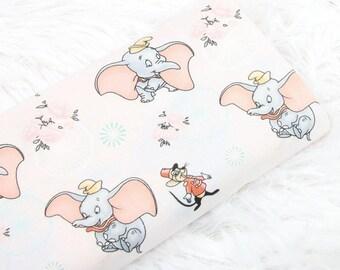 Cartoon Dumbo Fabric, Cartoon Character Fabric, 100% Cotton Fabric, By The Half Yard