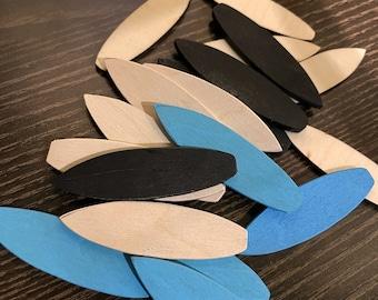 Wooden Mini Surfboard Set