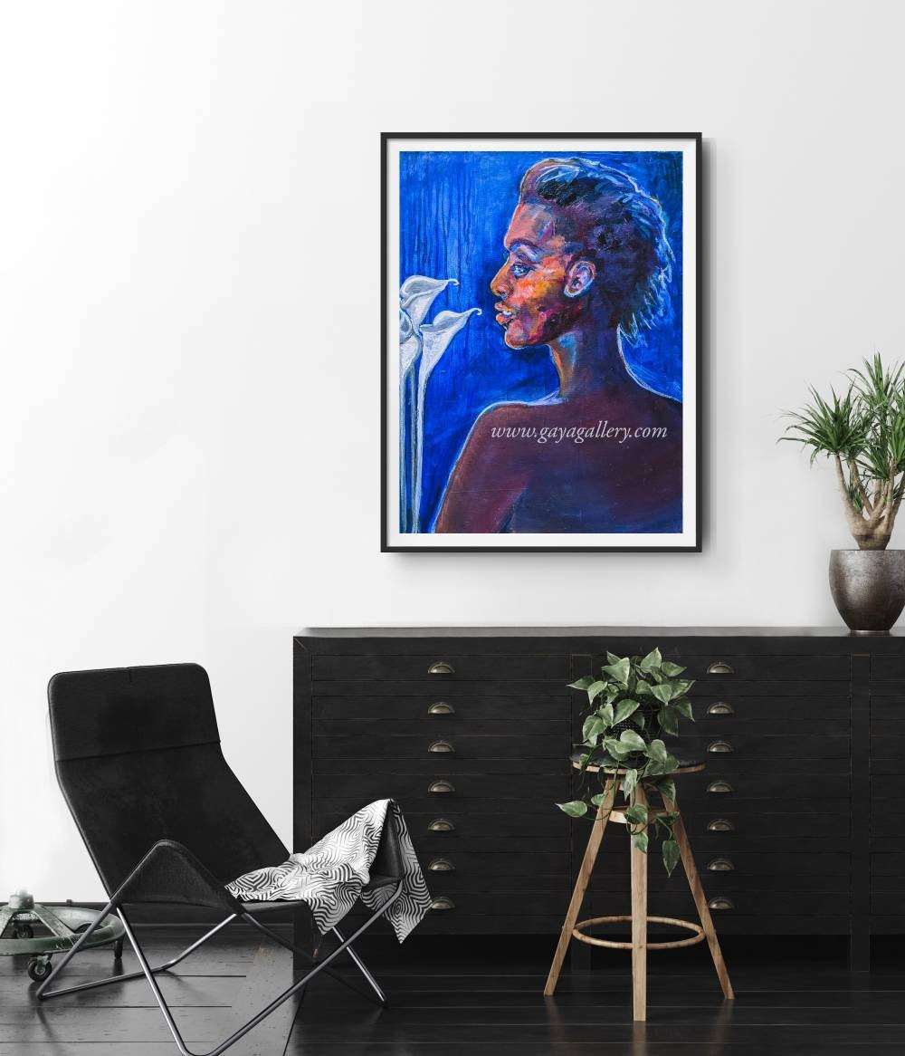 Frau mit Calla Lilien Nackt schwarze Geschichte Monat | Etsy