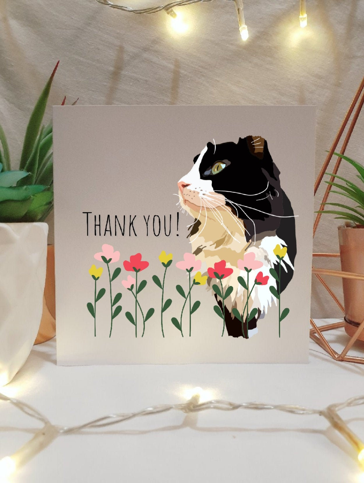 tuxedo cat thank you card multipack illustrated cards cat