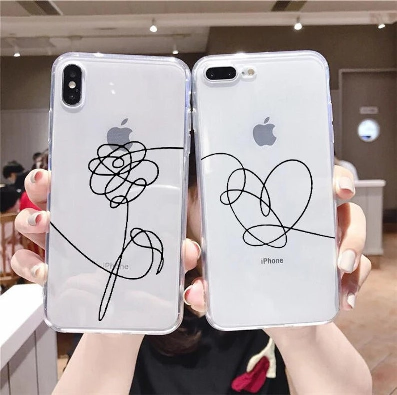 restock! NEW DESIGNS bts clear phone cover case love yourself speak yourself flower album see-through