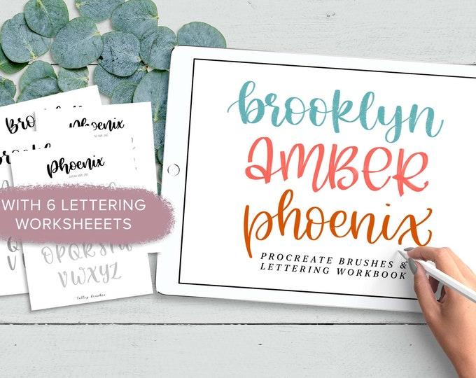 Brooklyn | Amber | Phoenix | Procreate Brushes + Worksheets